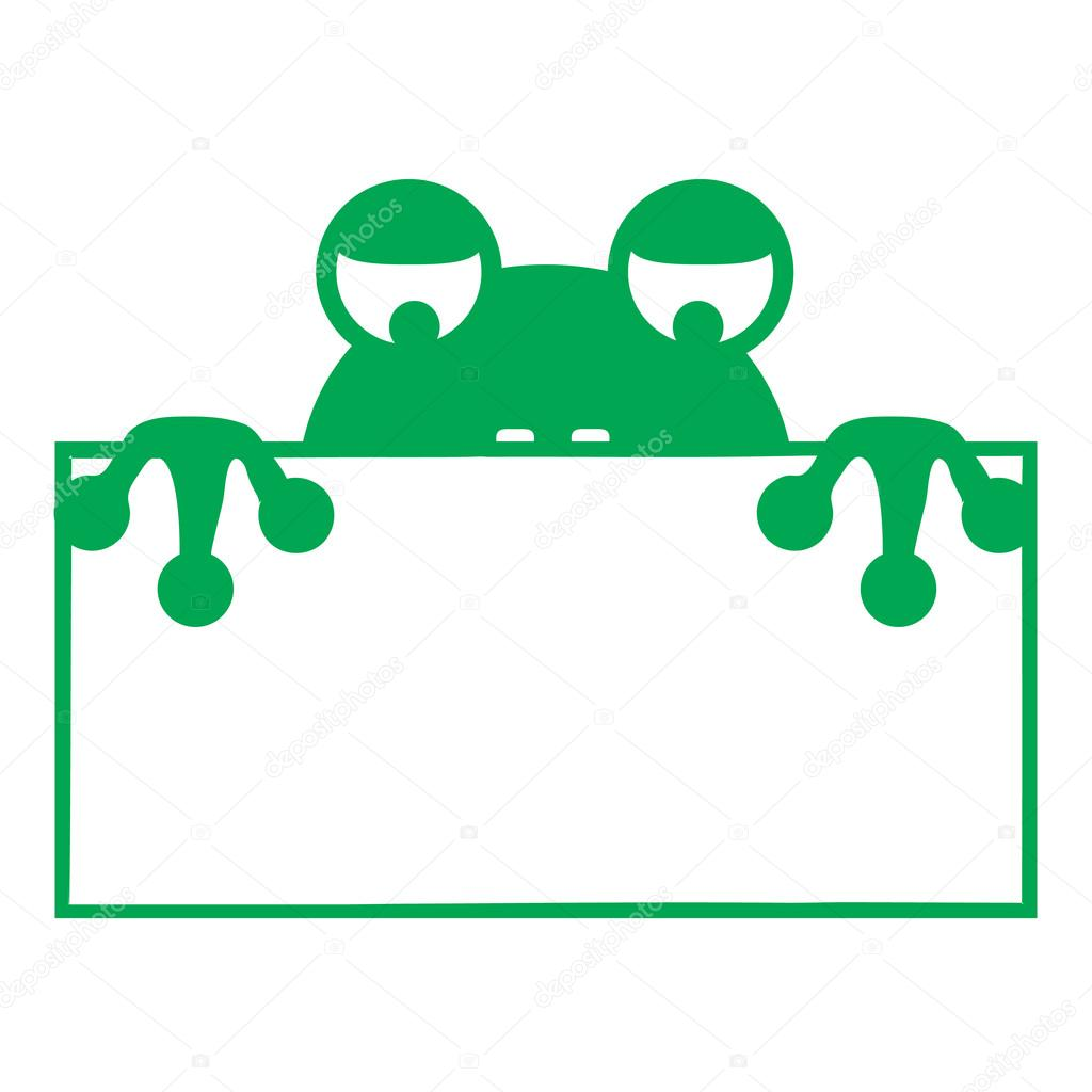 Frog frame tongue simple — Stock Vector © thor83 #68473399