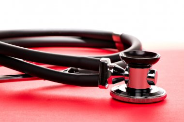 Stethoscope, close-up isolated