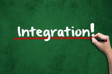 Integration on chalkboard