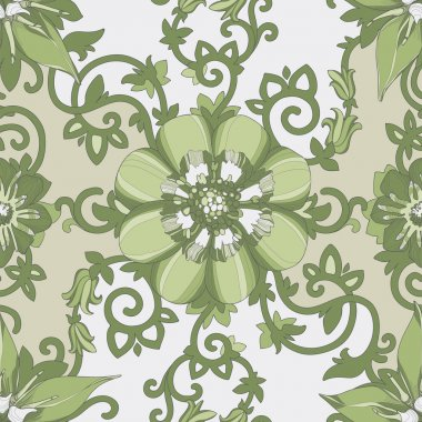 Beautiful elegant floral pattern in pastel colors