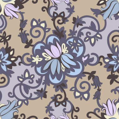 Beautiful elegant floral pattern in dark colors