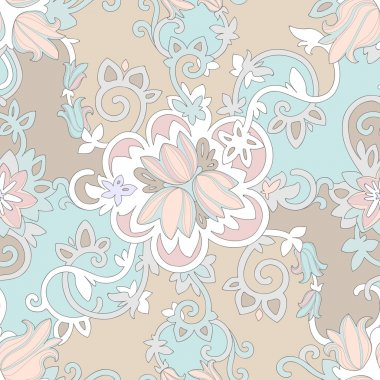 Beautiful elegant delicate floral pattern