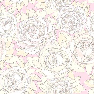 Vintage rose wallpaper.