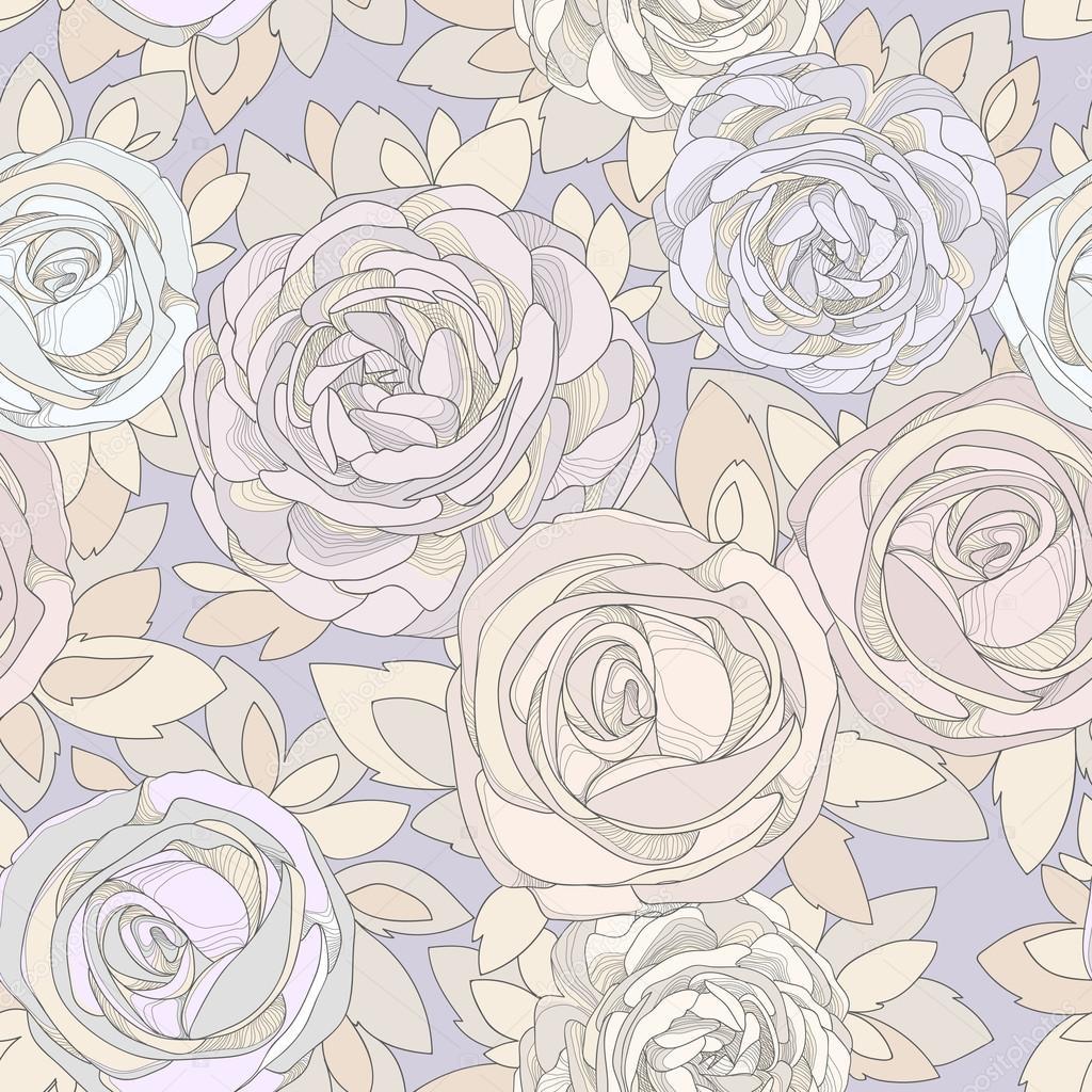 Vintage Rosebud Wallpaper Vintage Rose Wallpaper Stock Vector C Dozy Dreamer 66400879