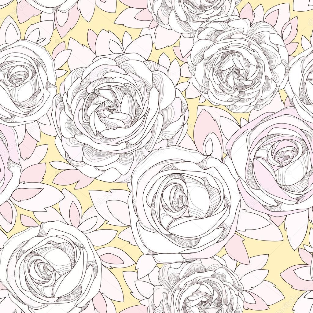 Vintage Rose Wallpaper Stock Vector C Dozy Dreamer 66400987