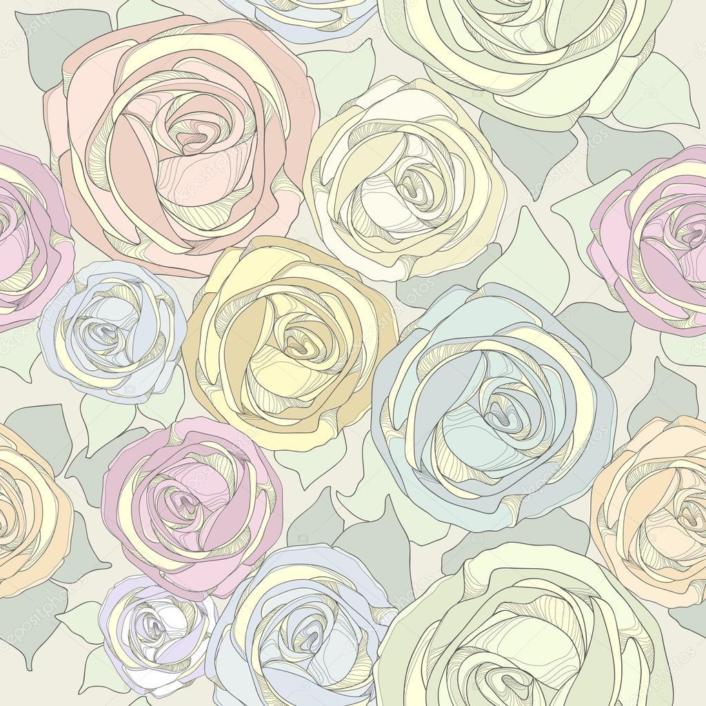 Vintage Rose Wallpaper Stock Vector C Dozy Dreamer 66401703