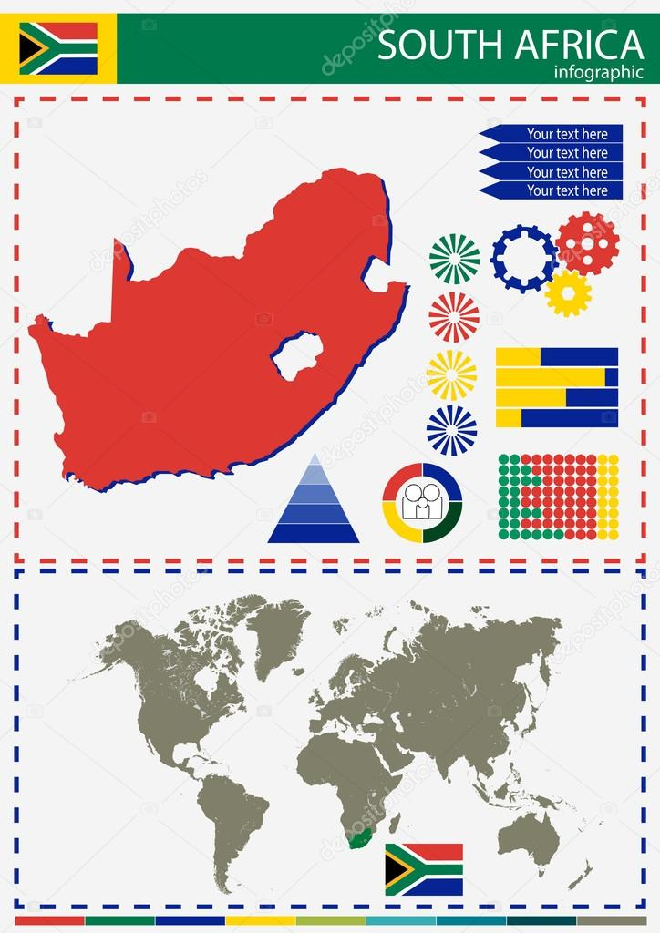 vector South Africa illustration country nation national culture