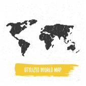stylizované svět mapa