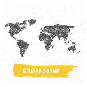 Fényképek stilizált világ Térkép