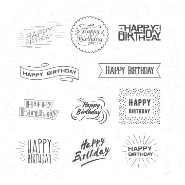 Happy Birthday. Lettering.