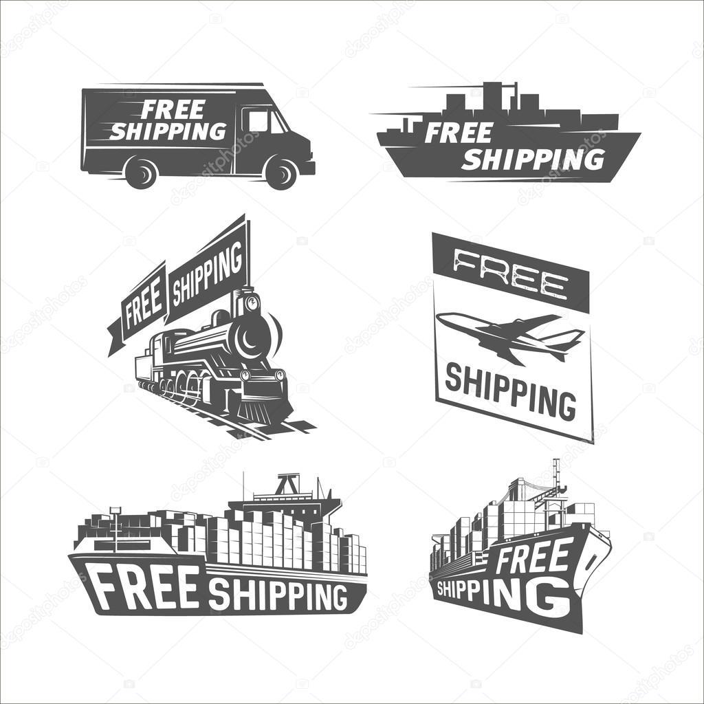 Envío gratis plantilla de diseño. Cargo de envío e internacional ...