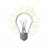 Fotografie Illustration der Glühbirne
