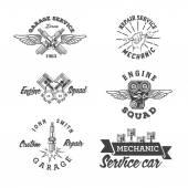 Auto-Service-Etiketten
