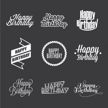 Happy Birthday's lettering