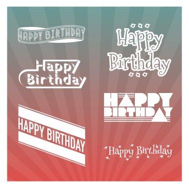 Set of Happy Birthday's lettering
