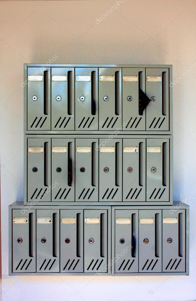 Mailboxes of an apartment building — Stock Photo ...