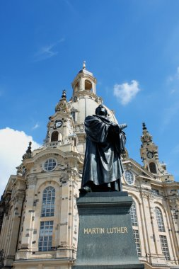Statue of Martin Luther in front of the Frauenkirche in Dresden,