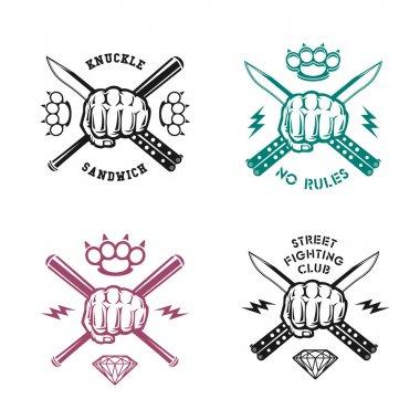 Street fighting club emblems