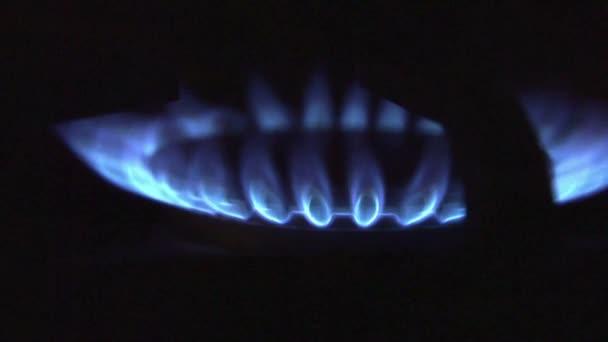 blaue Erdgas-Feuerflamme