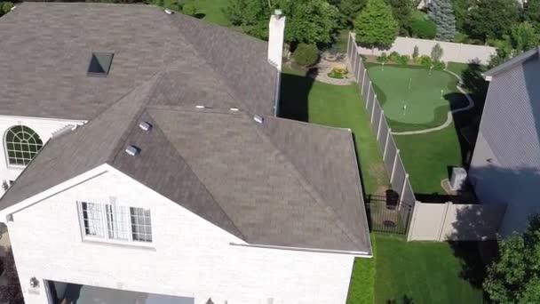 Obytné domy z režie letecký pohled