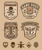 Fotografia Set di patch emblema militare deserto