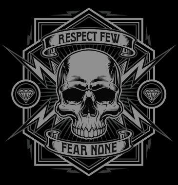 Respect skull lightning graphic