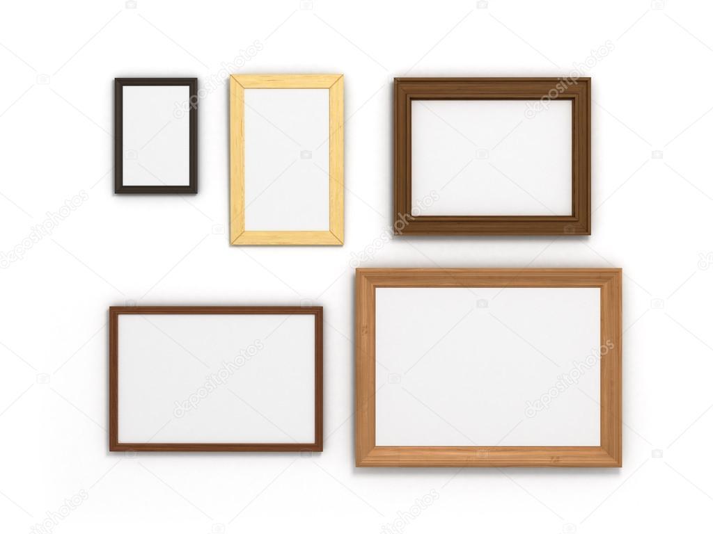 conjunto de colores marcos de diferentes tamaños sobre un fondo ...