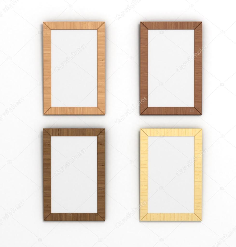 conjunto de colores marcos de madera verticales de diferentes ...