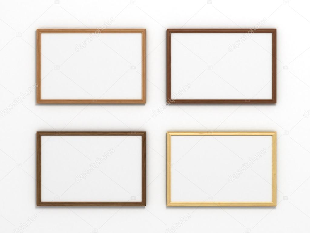set of multicolored wooden horizontal frames of different sizes ...