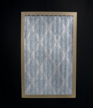 New Premium Furnace Filter On Black Background