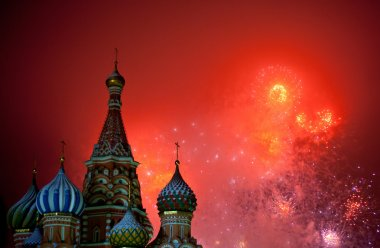 Moscow fireworks