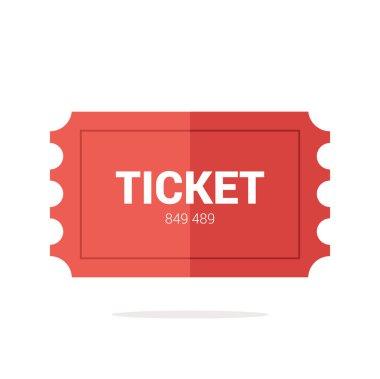 Tickets icon. Flat design.
