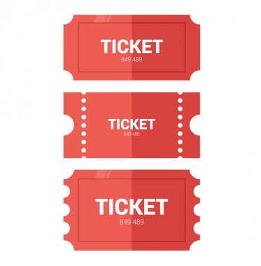 Tickets icon. Flat design.