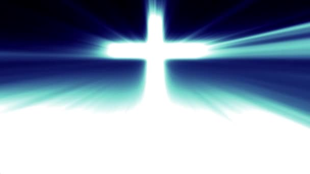 Könnyű a Krisztus keresztje, ray gerendák kék