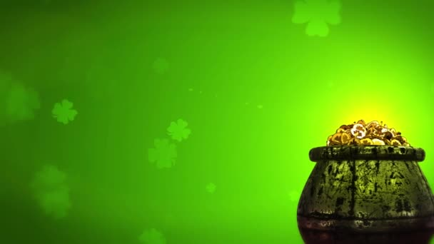 St Patrick den Shamrock a zlaté mince St Patrick Day symboly hrnec zlata pozadí