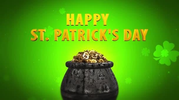 St. Patrick nap Shamrock és a Golden érmék Szent Patrick napi szimbólumok a fazék arany