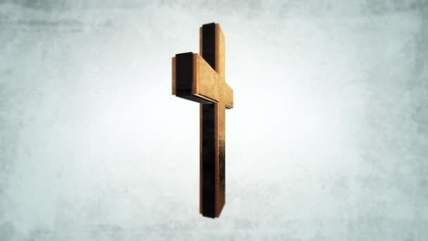 Calvary Gold cross of Christ light background