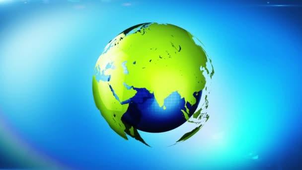 Földgömb megfordul hurok, spinning világ zöld energia háttérrel világ fogalmának