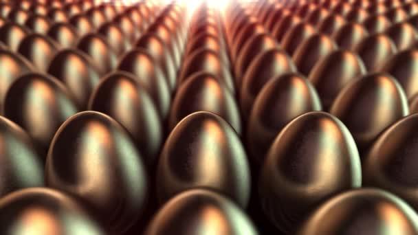 Fabrik der goldenen Eier. 3D close up gold loop hintergrund