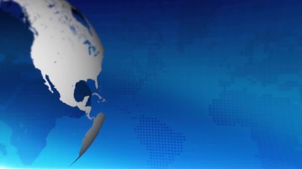 Rotující Globus pozadí abstraktní. Posouvání mapa světa ve smyčce