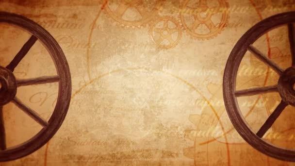 A vintage háttér, régi ókori kereket cigánykerék