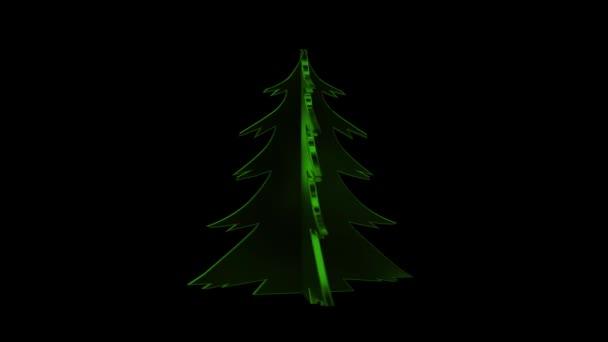 Előre kulcsos alfa-csatorna boldog karácsonyt és új évet fa