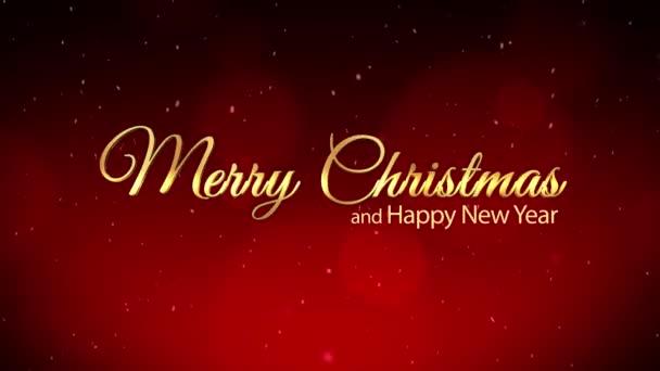 Buon Natale e anno nuovo rosso sfondo scintillante