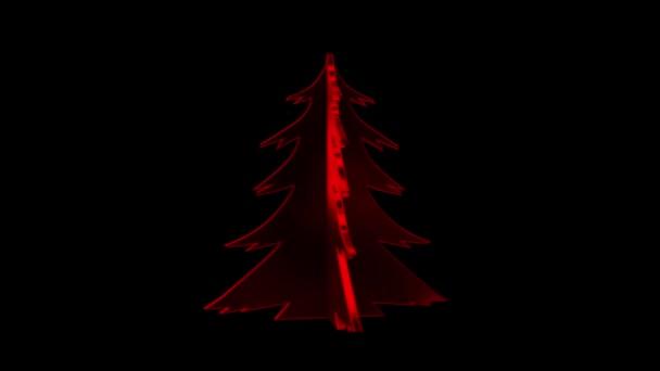 Albero di Natale rosso. Pre-digitato albero di canale alfa. Buon Natale e felice anno nuovo
