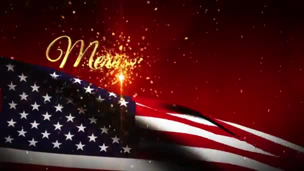 Boldog Karácsonyt és új évet USA zászló