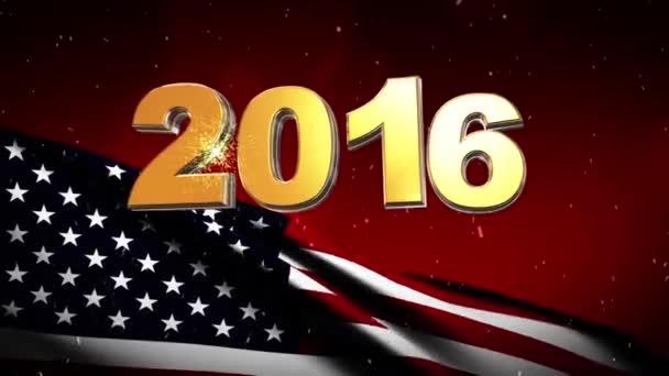 2016-ban új év Usa zászló háttér