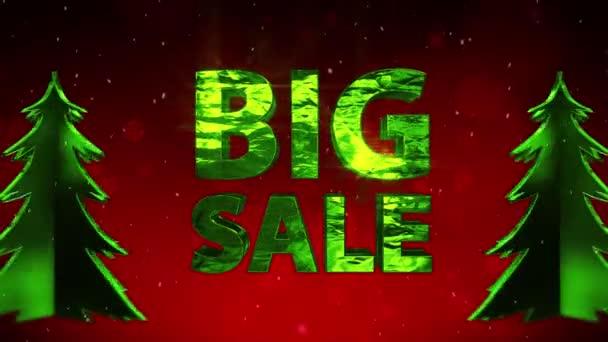 Velký prodej nový rok červené šumivé pozadí vánoční strom