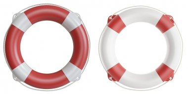 Set of life buoys. 3d illustration high resolution