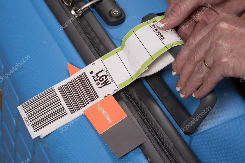 Priority Tag: Etiqueta De Bagagem Do Avião Segurança Prioridade Na Mala
