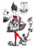 náčrt módní šaty